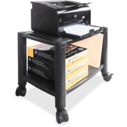 "Kantek Mobile 2-Shelf Printer/Fax Stand - 75 lb Load Capacity - 2 x Shelf(ves) - 14"" Height x 13.3"" Width - Floor - Black"