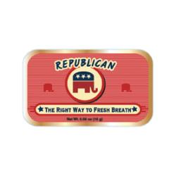 AmuseMints® Sugar-Free Mints, Republican, 0.56 Oz, Pack Of 24