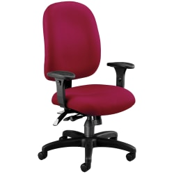 OFM Super Task Fabric High-Back Computer Chair, Wine/Black