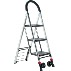 Conair Travel Smart LadderKart Professional Grade Stepladder/Hand Cart - 175 lb Capacity - Aluminum - 1 Each