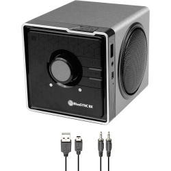 GOgroove BlueSYNC Portable Bluetooth® Speaker System, Silver/Gloss Black