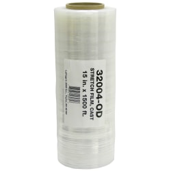 "Office Depot® Brand Stretch Wrap Film, 15"" x 1500' Roll, Clear"