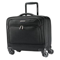 """Samsonite® Xenon 3 Mobile Office Spinner Rolling Case, 16 1/4""""H x 13 1/4""""W x 7 1/4""""D, Black"""