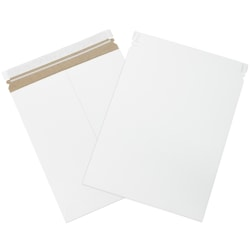 "Office Depot® Self-Seal Stayflats Mailers, 11"" x 13 1/2"", White, Pack Of 25"