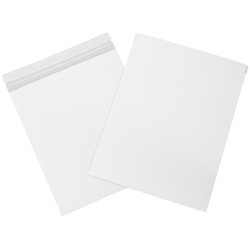 "Office Depot® Self-Seal Stayflats Mailers, 12 3/4"" x 15"",White, Pack Of 25"