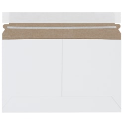 """Office Depot® Brand Flat Side-Loading White Mailers, 9"""" x 6"""", Pack Of 200"""
