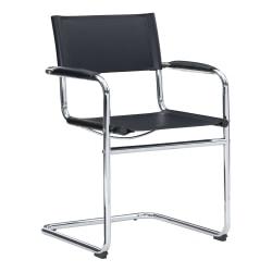 Linon Dorton Chair, Chrome/Black