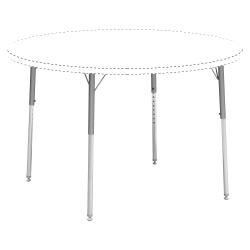 Lorell® Classroom Adjustable Activity Table Legs, Standard-Height, Chrome/Silver Mist, Set Of 4