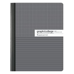 """Office Depot® Brand Composition Book, 7-1/2"""" x 9-3/4"""", College/Graph Ruled, Gray/White, 100 Sheets (200 Pages)"""
