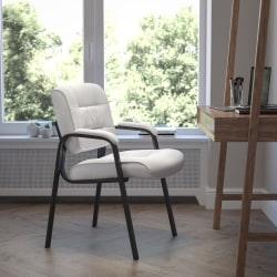 Flash Furniture Bonded LeatherSoft™ Side Chair, White/Black