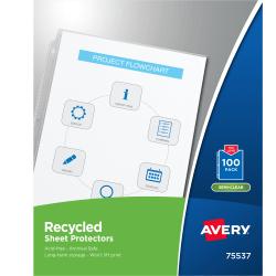 Avery® Economy-Weight Sheet Protectors, Box Of 100