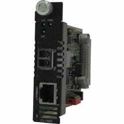 Perle CM-1000-S2LC70 Gigabit Media Converter - 1 x Network (RJ-45) - 1 x LC Ports - DuplexLC Port - 1000Base-T, 1000Base-ZX - Internal