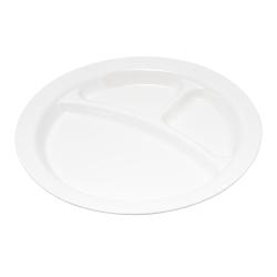 "Carlisle Polycarbonate Narrow-Rim Plates, 10"", White, Pack Of 48"