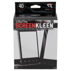 Advantus Screen Kleen Cleaning Wipes, Pack Of 40