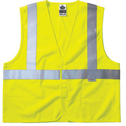Ergodyne GloWear Safety Vest, Treated Polyester, Type-R Class 2, Large/X-Large, Lime, 8255HL