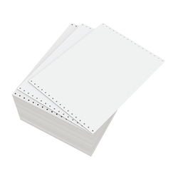 """Domtar Continuous Form Paper, Unperforated, 11"""" x 8 1/2"""", 18 Lb, Blank White, Carton Of 4,000 Forms"""