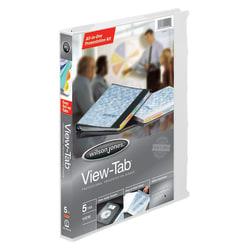 """Wilson Jones® All-In-One View-Tab® Presentation Binders, 5/8"""" Rings, White"""