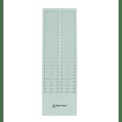 "PaperCloud Time Card Rack, 50 Pockets, 27""H x 8.25""W x 1.4""D, Gray, PCTCR50"