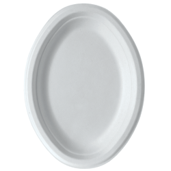 "Eco-Products Sugarcane Plates, 10"" x 7"", White, Pack Of 500 Plates"