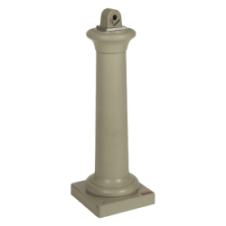 "Rubbermaid® Groundskeeper Tuscan Smoking Receptacle, 38 3/8"" x 13"" x 13"", Sandstone"