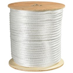 "Office Depot® Brand Solid Braided Nylon Rope, 3,900 Lb, 1/2"" x 500', White"