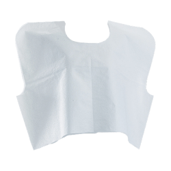 "Medline Disposable Patient Capes, 21"" x 30"", White, Carton Of 100"