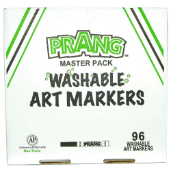 Prang® Washable Masterpack Markers, Assorted Colors, Pack Of 96