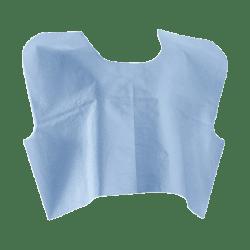 "Medline Disposable Patient Capes, 21"" x 30"", Blue, Pack Of 100"