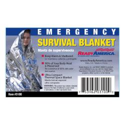 Ready America® Emergency Survival Blankets, Pack of 25 Blankets