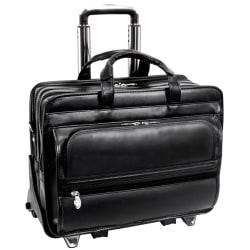 "McKleinUSA FRANKLIN 2-In-1 Removable-Wheeled 17"" Laptop Case, Black"