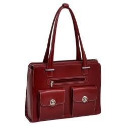 McKleinUSA VERONA Ladies' Fly-Through Checkpoint-Friendly Briefcase, Red