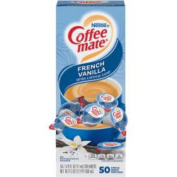 Nestlé® Coffee-mate® Liquid Creamer, French Vanilla Flavor, 0.38 Oz Single Serve x 50