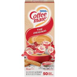 Nestlé® Coffee-mate® Liquid Creamer, Original Flavor, 0.38 Oz Single Serve x 50