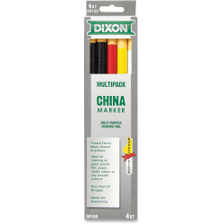 Dixon® China Marker Paper-Wrap, Presharpened, HB Lead, Pack of 5