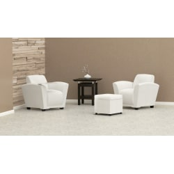 Mayline® Santa Cruz Lounge Seating, Mobile Chair, White/White