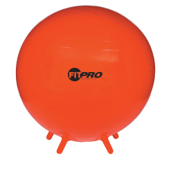 """Champion Sports FitPro Ball With Stability Legs, 29 1/2"""", Red"""