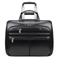 McKleinUSA WRIGHTWOOD Wheeled Laptop Case, Black
