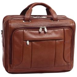McKlein River West Leather Laptop Case, Brown