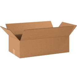 "Office Depot® Brand Corrugated Boxes, 8""H x 12""W x 22""D, 15% Recycled, Kraft, Bundle Of 25"