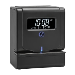 Lathem 2100 HD Heavy-Duty Thermal Print Time Clock, Gray