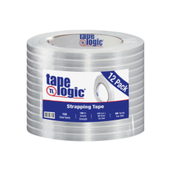 "Tape Logic® 1400 Strapping Tape, 3/8"" x 60 Yd., Clear, Case Of 12"