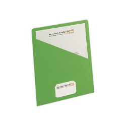 "Smead® Slash File Jackets Convenience Pack, 9 1/2"" x 11 3/4"", Green, Pack Of 25"