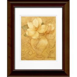 "Timeless Frames Katrina Framed Floral Artwork, 11"" x 14"", Brown, Mini Bouquet"