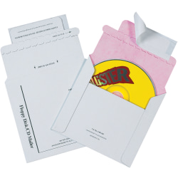 """Tyvek® Lined CD Mailers, 5"""" x 5"""", White, Pack Of 100"""
