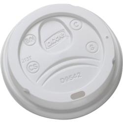 Georgia- Pacific Dixie® Dome Plastic Hot Cup Lids by GP Pro (Georgia-Pacific), Large, White, 1,000 Lids Per Case - Round - Plastic