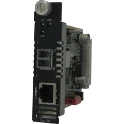 Perle C-100-S2LC120 Fast Ethernet Media Converter - 1 x Network (RJ-45) - 1 x LC Ports - DuplexLC Port - 100Base-TX, 100Base-ZX - External