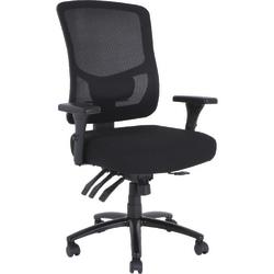 Lorell® Big & Tall High-Back Mesh Chair, Black