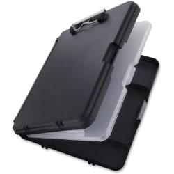 Saunders WorkMate II Poly Low-Profile Form Holder Storage Clipboard, Black