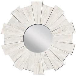 """PTM Images Framed Mirror, Burst, 20""""H x 20""""W, White"""