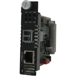 Perle S-110-S2LC120 Media Converter - 1 x Network (RJ-45) - 1 x LC Ports - DuplexLC Port - 10/100Base-TX, 100Base-ZX - Rail-mountable, Rack-mountable